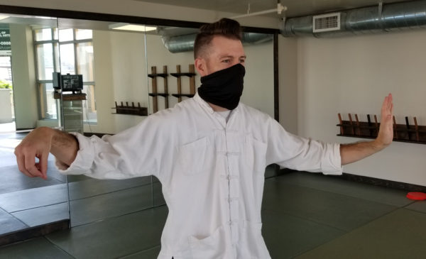 Sifu breathing in mask