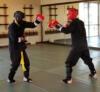 Test big gloves sparring