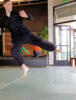 flying stomp kick